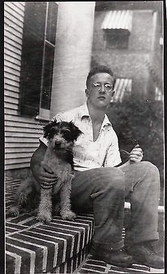 Vintage Photograph 1935 Terrier Dog Puppy Connecticut Massachusetts Old Photo