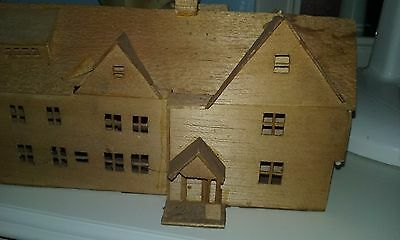 house of seven gables model made from balsa (?) wood