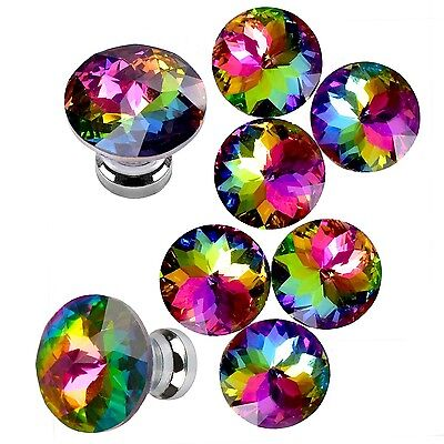 NEW Mini Elegant Colorful Durable Fashion Glass Knobs for Drawer Cabinet Dresser