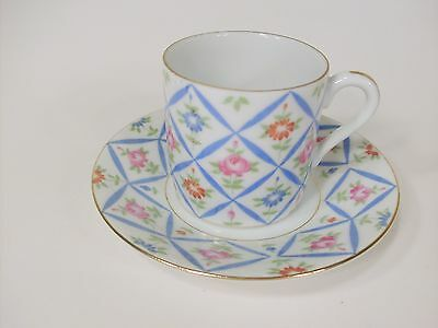 Lefton China demitasse and saucer Reg US Pat office 3194