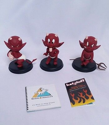 Lot Figurines Hot Stuff Les 7 péchés / VFR90 VFR91 VFR92 / DEMONS & MERVEILLES