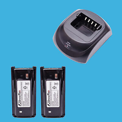 Two Way Radio Rapid Rate Charger with 2 pcs 1600mAh Battery for Kenwood TK-2300
