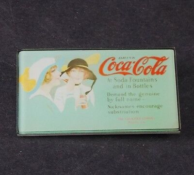 Original 1950's Vintage Logo Coca Cola Collector Enamel Lapel Pin Button Badge