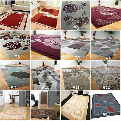 Small - Extra Large Durable Patterned Soft Modern Rugs Geometric Floral Prism