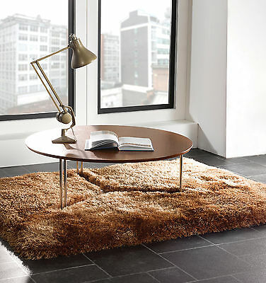 Small - Large Soft Chunky Thick Long 8Cm Pile Shaggy Caramel Gold Pearl Rug