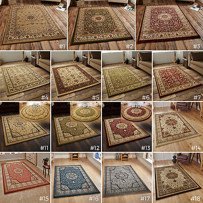Small- Extra Large Traditional Classic Thick Luxury Soft Wool-Look Heritage Rugs