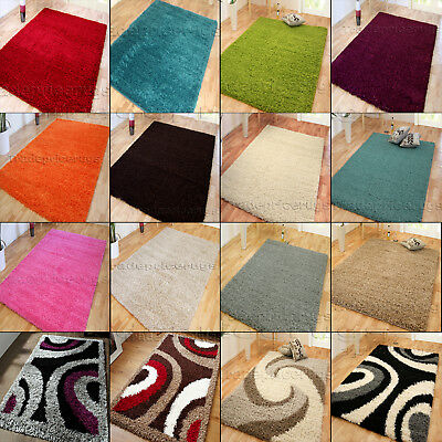 Small - X Extra Large Thick Plain Soft Pile Modern Discounted Shaggy Rugs Sale