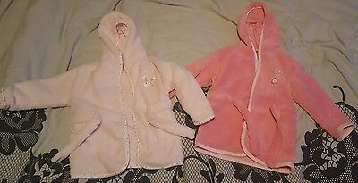 2 baby girls dressing gowns 6-9 months