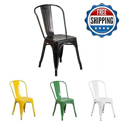 Stackable Chair Indoor Outdoor Seating Furniture Patio Vintage Decor Chairs