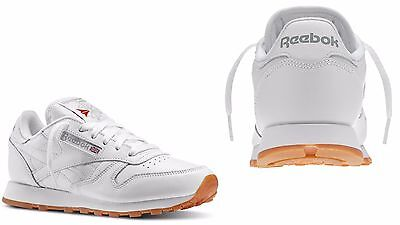 7ca191b0c5ef31 REEBOK CLASSIC LEATHER 49801 Womens Sneakers Fashion Shoes White Gum ...