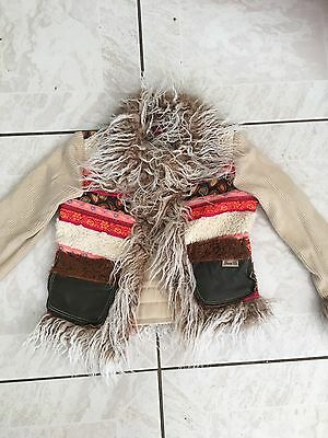Authentic Guess Boho Style baby girls thick winter jacket 3-4 Years Old
