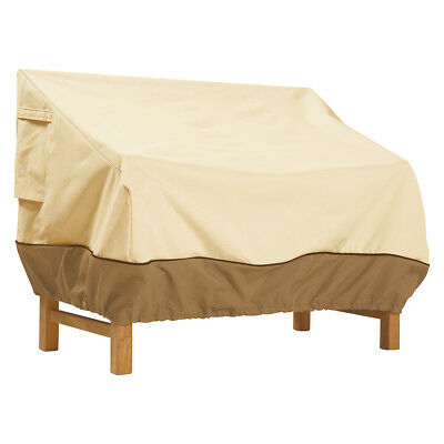 Classic Accessories 72932 Veranda Pebble Patio Loveseat/Bench Cover - Large
