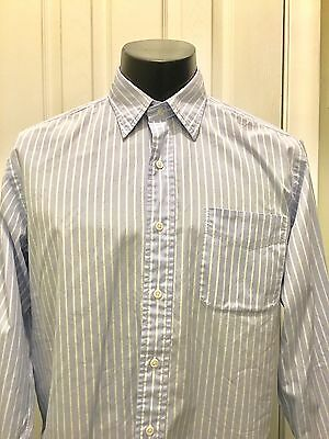 Polo Ralph Lauren Men's Lowell Blue Striped Long Sleeve Button Down Shirt 16