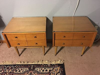 Mid Century Vintage Nightstand/end Tables  - Furnishings Of Character- Lammerts