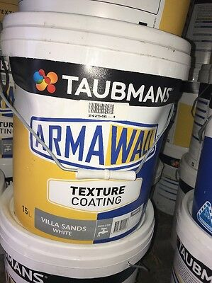 Taubmans Arma Wall Texture Coating Villa Sands White 15L