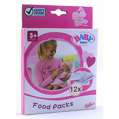 New Zapf Creations Baby Born Play Food Packs Pack 12 Sachets 779170