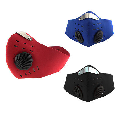 Bike Bicycle Riding PM2.5 Gas Protection Filter Respirator Dust Mask Head New