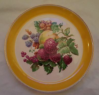 Ws George Geo230 Fruit Yellow Rim Plate
