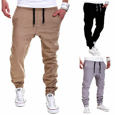 Mens Casual Trousers Sweatpants Harem Long Pants Slacks Jogger Dance Sportwear