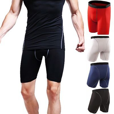 Mens Sports Compression Wear Shorts Pants Athletic Under Base Layer Tights Skin