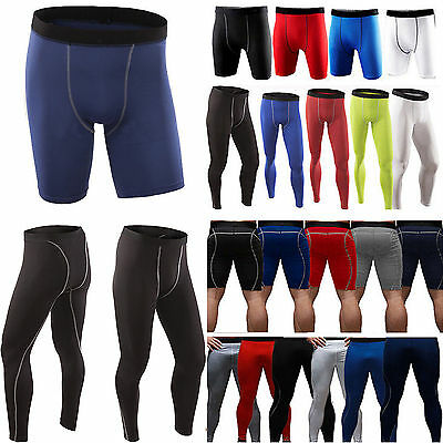 Men's GYM Compression Shorts Pants Body Armour Sports Under Base Layers Tights