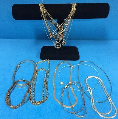 Huge Sterling Silver Necklace & Pendant Jewelry Lot - 113 Grams All Wearable! Sa