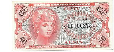 MPC Series 641  50 cents 1st  printing A.UNC