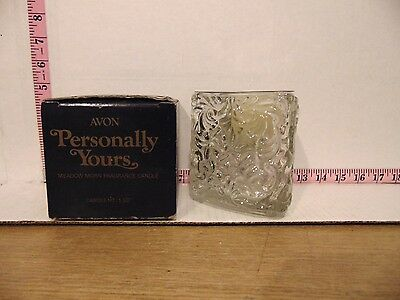 1980 Avon Personally Yours Meadow Morn Fragrance Candle MIB