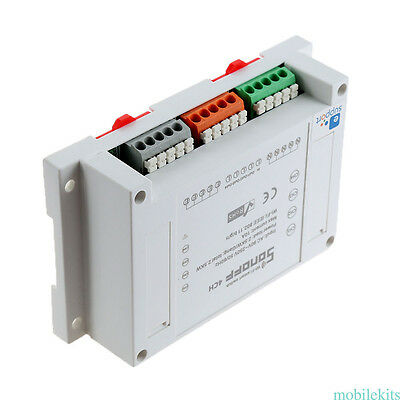 Sonoff 4CH ITEAD 4 Channel Din Rail Mounting WiFI Smart remote Control Switch