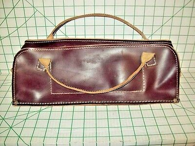 "BARN FIND - USED LEATHER BAG 16""x6""x5"""
