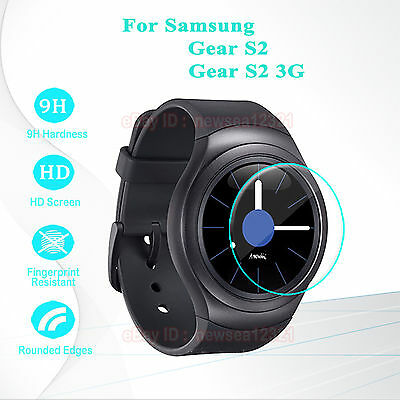 2PCS Tempered Glass Screen Film Skin For Samsung Gear S2 3G SM R720 Smart Watch