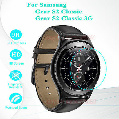 2PCS Tempered Glass Screen Protector Cover For Samsung Gear S2 Classic 3G R732