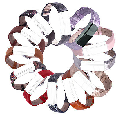 For Fitbit Alta/HR!Soft Genuine Leather Replacement Wrist Band Watch Strap Hot