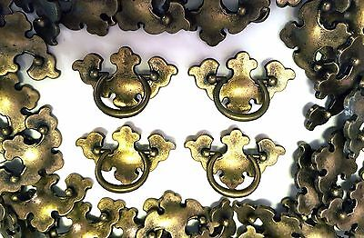 ANTIQUE BRASS METAL DRAWER PULL DRESSER CABINET HANDLES 55 pc LOT UNUSED NOS