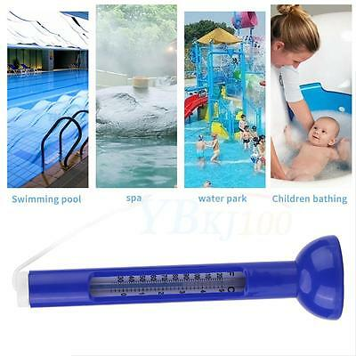 Floating Swimming Pool Spa Hot Tub Bath Temperature Thermometer With String