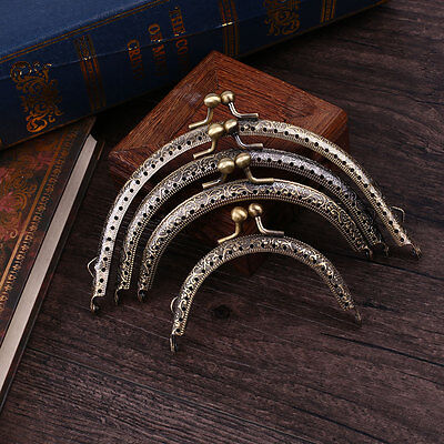 Coin-Purse Kiss Clasp Lock Vintage Decoration Metal-Frame Arch Women Girls Bag
