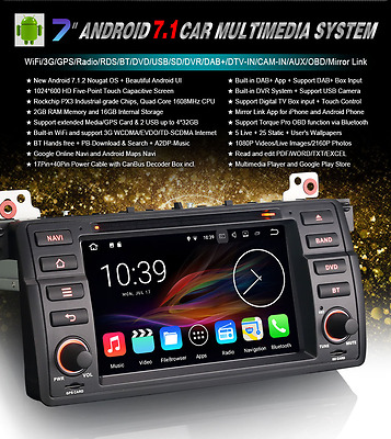 "Radio Dvd 7"" Bmw Serie 3 E46  M3  Z3 - Android 5.1 Bluetooth,gps,usb,3G"