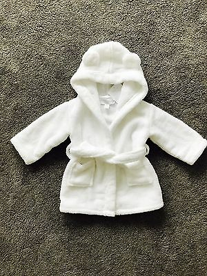 The Little White Company Baby Dressing Gown With Hood And Ears
