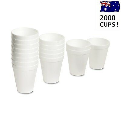 2000 Disposable Foam Drinking Cups 227ml Coffee Tea Cups Bulk Cup Sale