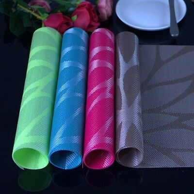 PVC Placemat Dining Table Mats Bottle BarMat Kitchen Dining Bowl Plate Pad