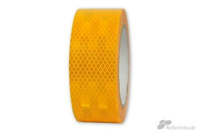 10m x 50mm 3M™ Engineer Grade Reflex Ribbon 3430 RA1 Foil Reflective Yellow