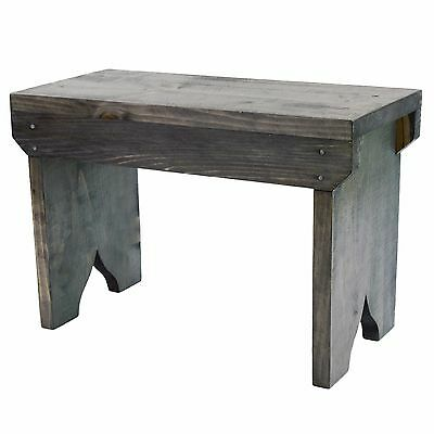 Small Wooden Stool Rustic Shabby chic rectangle seat
