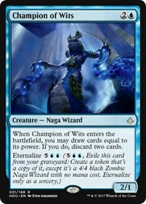 CHAMPION OF WITS Hour of Devastation MTG Blue Creature — Naga Wizard Rare