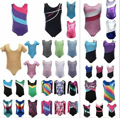 Children Girls Kid Gymnastics Dance Sleeveless Ballet Bodysuit Leotard Dancewear