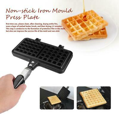 Square Shape Non-stick Iron Mould Mold Press Plate Waffle Making Baking Pan Tool