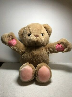 "Plush Russ & Berrie ""i Love You This Much"" - 9"" Sitting Plush Bear - Brown"