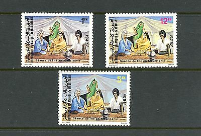 Mauritania 1980  #460A-2   tea time  3v.  MNH  K606