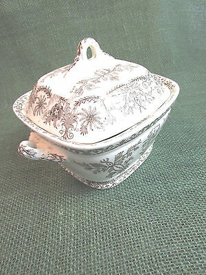 Vintage T & R Boote  Covered Sauce Server Ironstone Transferware