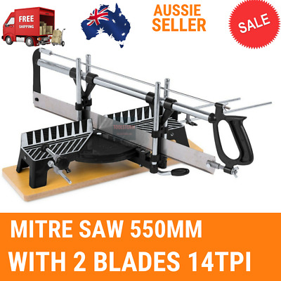 Manual Precision Mitre Saw 550mm 14TPI saw Woodwork With 2 Blades 14TPI 550MM