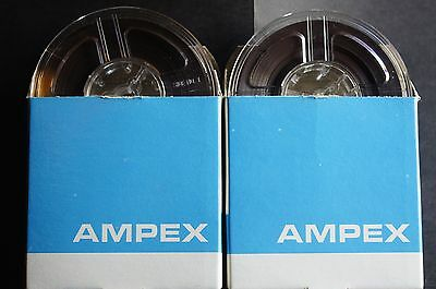 3 inch reel to reel. Ampex 2 tapes in good condition.